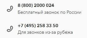 Телефон горячей линии Точка Банка